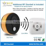2016 Amazon Hot Sale Waterproof Wireless Doorbell Video Intercom Real Time Watching on Phone