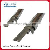 U shape stainless steel slotted pvc pipe mini top rail accessories for frameless glass railing