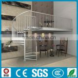 space saved aluminum indoor glass spiral stair design