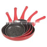 Pressed Aluminium Marble Coating Fry Pan Set