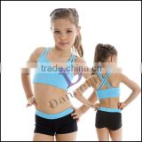 C2426 Girls Double Strap Ballet Crop Top wholesale camisole girls ballet tops ballet bra tops