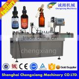 Gold supplier automatic liquid filling machine 10ml,e liquid filling capping labeling machine