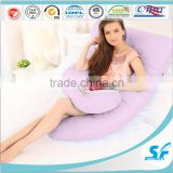 U shape /G shape/ C shape cotton fabric soft micro fiber filling sofa cushion body pillow for pregnant and baby