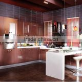 lacquer kitchen cabinets with breakfast bar design high quality in the market