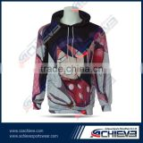 Fashion hoodies& women's hooded t shirt sublimation printed hoodies