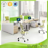 Melamine mdf board to make wooden furniture office workstation with three drawers pedestal