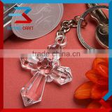 Nice Cross Glass Keyring Baby Shower Party Small Gifts