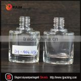 Free samples 9ml clear empty nail polish bottle glass flat shape in stocks wholesales                                                                                                         Supplier's Choice