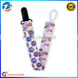 Cute Baby Pacifier Clip Holder Funny Cartoon Printed Ribbon Plastic Pacifier Clip