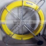 14mm Fiberglass Push Pull Rod,Fiber Snake Duct Rodder, Galvanized electrical cable reel stands