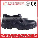 summer low cut protective footwear industrial sandal safety shoes black leather wide plastic toe cap safety shoes