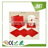 square PU leather cup coaster pad bar coffee house table mat pad