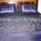 New Luxurious Silk embroidery 5 piece Bedspread