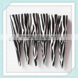 new arrival UV acrylic stripe print ear taper/expander/plug cheap body piercing jewelry factory