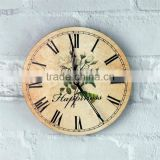 sublimation antique wood wall clock face custom size