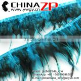 CHINAZP Factory Wholesale Cheap Cock Plume Fringe Directly Dyed Turquoise Rooster Saddle Feathers Trimmings