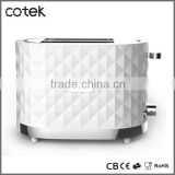 Cotek diamond rang hamburger bun toaster 1000watts with 36mm extra wide slots stainless steel strip Auto shut-off