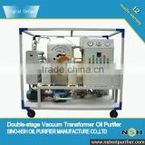 Vacuum double-stage insulation oil filtration device