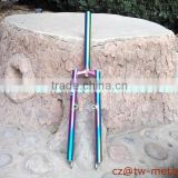 Fashionable titanium Rainbow front fork titanium MTB bike fork customized ti bicycle part colourful