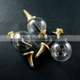 20mm glass ball in antiqued bronze brass vial pendant DIY glass dome bottle charm supplies 1810389