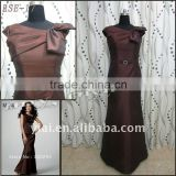 M-4 Free Shipping 2011 New Design Bow Neckline Belt Two-Piece Dress With Jacket Mother Of Bride Dress