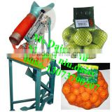 semi-automatic lemon mesh bag packing machine/onion net bag packing machine/vegetable net bag packaging machine