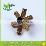 3/8'' Brass slip lock joint connector with 6 spray site. End cap connector. Fog system base.