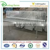 Cheap outdoor metal park bench with parts