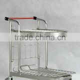 Nestable metal trolley