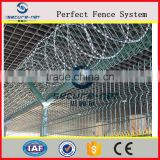PVC coated airport fence, Y- shape post with razor wire on the top (ISO9001:2000Certificated)