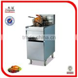 Quality and quantity assured Vertical 1-tank computer fryer 2-basket (DF-30)(0086-13632272289)