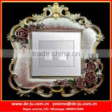 Silver Europe style Socket Paste Cover Sticker