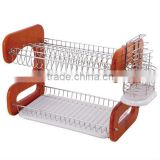 2 TIER RED DISH DRAINER