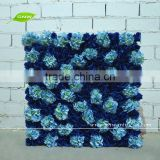 GNW FLW1508-10 Artificial Plastic Blue Rose Flower Type Wall used in wedding background wall