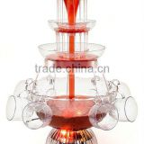 CHOCOLAZI ANT-8010 3 tiers Plastic Home Wine Fountain electric wine fountain 3L