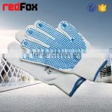 leather work glove knitted cotton polyester work gloves with factory cow split leather work gloves patched palm