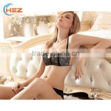 HSZ-G14055 Stylish Hot Fancy Push Up Bra And Panty Set Sexy Women Lace Underwear Model Latest Lady Lingerie Private Label