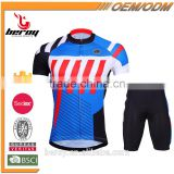 BEROY 2016 summer breathable bicycle jersey set short sleeve for men,china custom cycling jersey with bib shorts