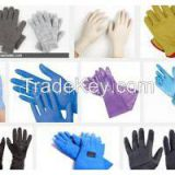 Blue of Disposable Gloves in household