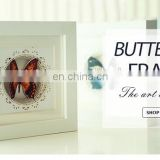 New Arrival The Art Of Living Home Party Decoration 3D Butterfly Wooden Photo Frame