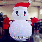 2m Height Christmas Led Inflatable Lighting Snowman with Snowflakes Light for Decoration