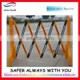yellow folding retractable traffic barrier/plastic temporary traffic barrier
