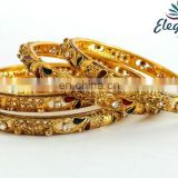 2016 Indian bridal bangles -South indian bangles -Indian imitation bangles -One gram gold plated Bangles