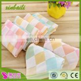double gauze 100% cotton hand towel for baby and children plaid