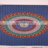 Indian Gypsy Mandala Handmade Design Round Tapestry Cotton Yoga Mat Round Throw