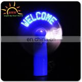 LED hand fans for sale/customized fabric hand fan/mini plastic hand fan for children