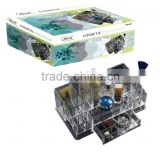Acrylic cosmetic organizer with drawer