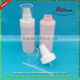 Round pink color empty PET foam bottle / Plastic bottle with foam pump 100ml 200ml foam pump