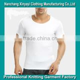 High Quality O Neck T Shirts for Male Slim Fit Men's Clothing Custom Plus Size Wholesale