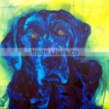 Special design popular item high quality smallest size 40x50cm handmade dog oil painting canvas